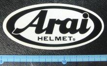 他の写真1: Araiアライ純正★ヘルメットステッカー反射タイプ/パールステッカー(8.5×4cm)/1枚入